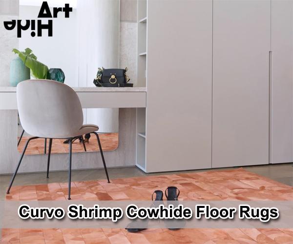 Buy Curvo Shrimp Cowhide Floor Rugs - Ar