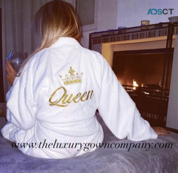 Shop Personalised cotton dressing gown
