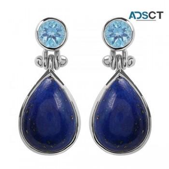 Wholesale Beautiful silver Lapiz lazuli